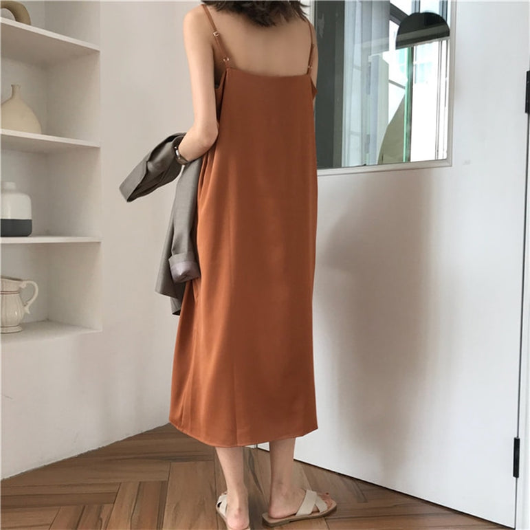 Sexy Loose Sleeveless Maxi Dress