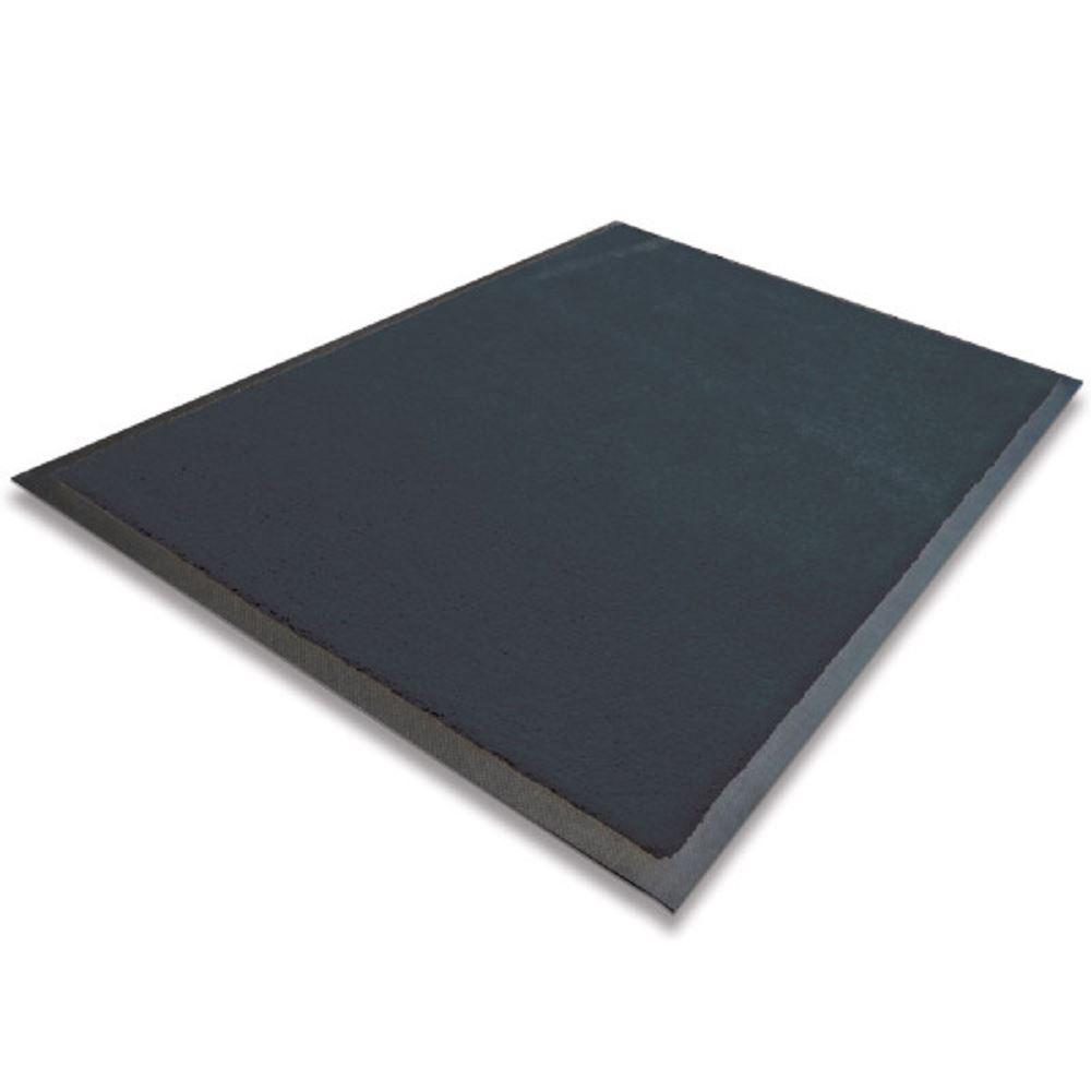 Non Slip Indoor Mat 450x750mm Solid Colours - 450 x 700 mm Black Home Improvements