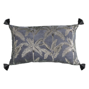 Silver Palm Cushion