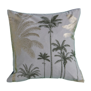 Metallic Palm Tree Cushion