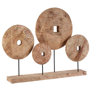Wooden Disc Sculpture
