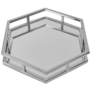 Hexa Mirrored Tray