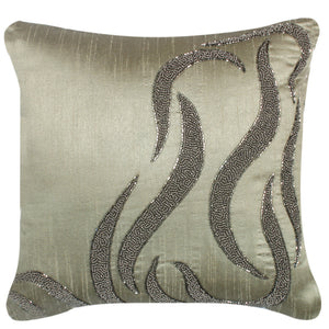 Embellished Wave Cushion