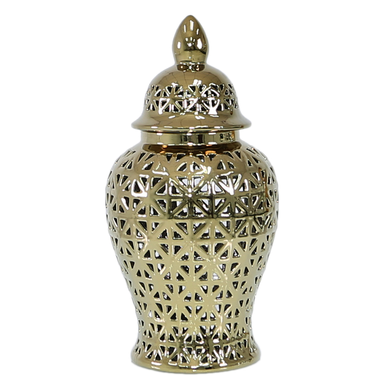 Gold Cut Out Ginger Jar