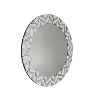 Tiled Edge Round Mirror
