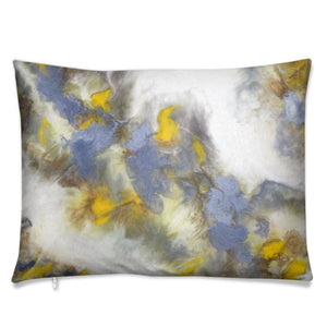 Ochre Swirl Cushion-Cushion-Urban Luxe Art