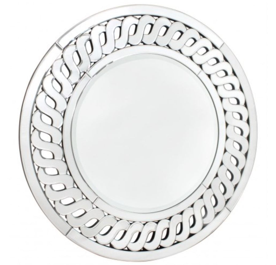 Wave Edge Round Mirror