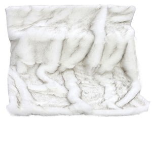 White Wolf Fur Throw