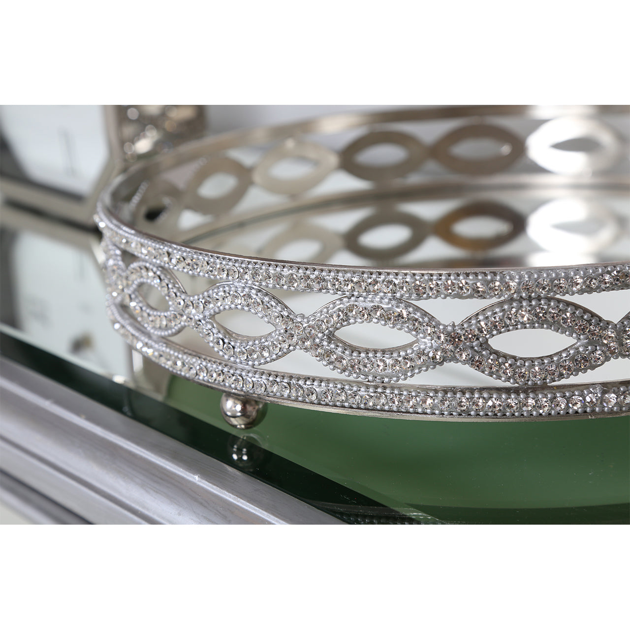 Mirrored Crystal Tray