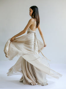 Rachel Silk Chiffon Dress - Rental