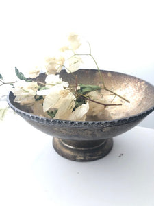 Antique Tawny Compote Vase