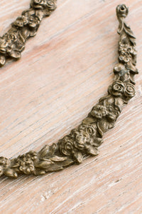 French Ormolu Rose Garland Mount