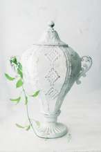 Load image into Gallery viewer, Antique White Metal Urn