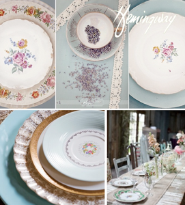 Antique French Plates- Rental