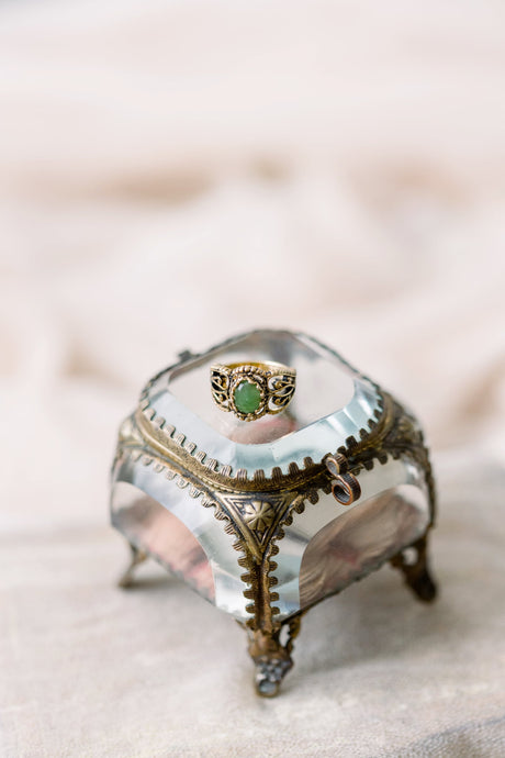 French Ormolu ring box