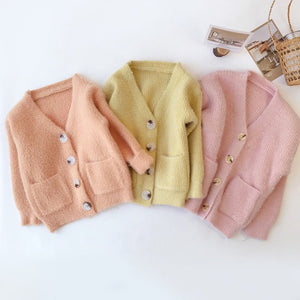 Matching Peach cardigan