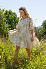 Load image into Gallery viewer, Sand Gingham Dress