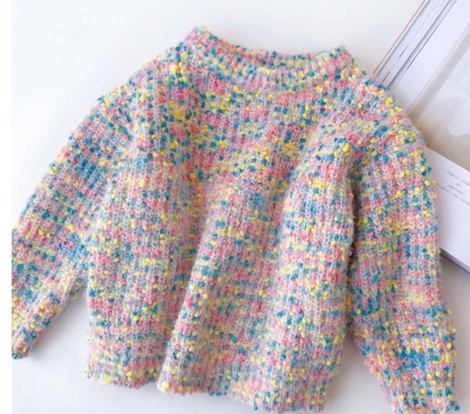Matching Pastel Speckled Knit