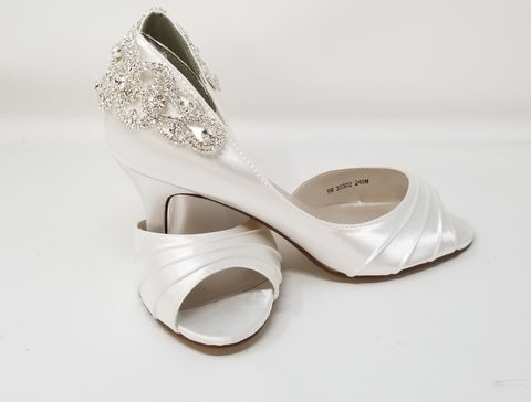 Medium and High Heels - White Wedding Shoes