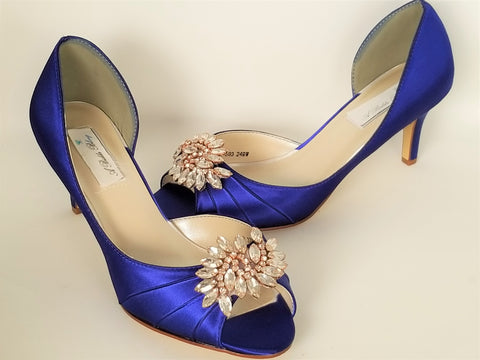 Medium and High Heels - Blue Wedding Shoes