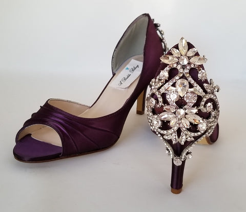 Medium and High Heels - Purple Wedding Shoes