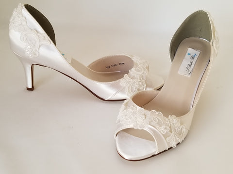 Medium and High Heels - Ivory Wedding Shoes