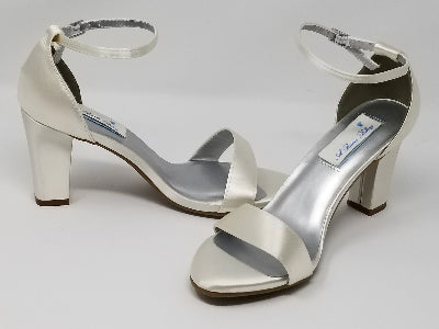 block heel ivory wedding shoes