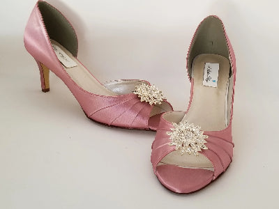 rose bridal shoes