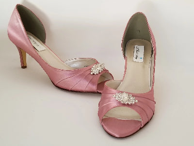 pink bridesmaids shoes