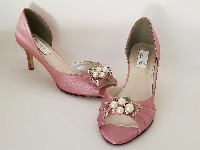 rose pink wedding shoes