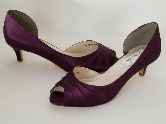 eggplant purple bridal shoes