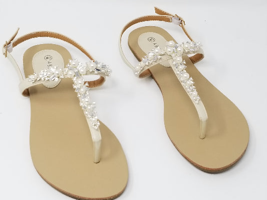 Pearl and Crystal Bridal Sandals