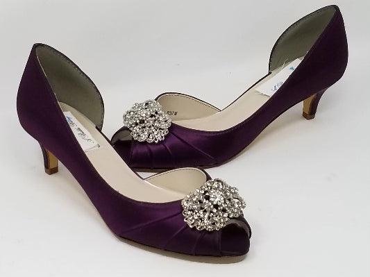 purple wedding shoes vintage design