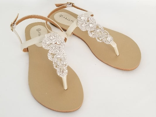 crystal bridal sandals