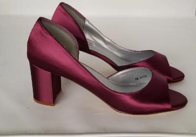 burgundy bridal shoes
