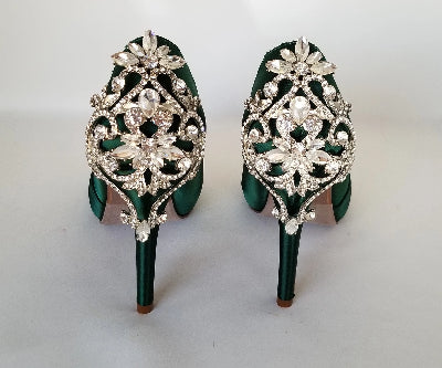 green bling shoes