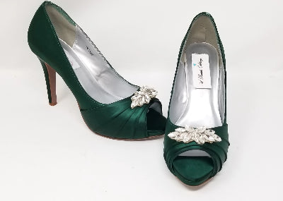 green wedding shoes high heel