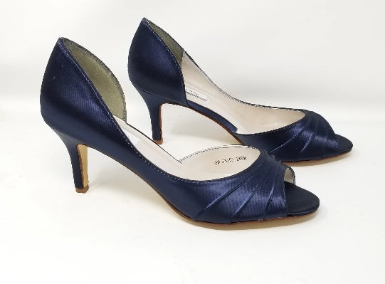 navy bllue wedding shoes