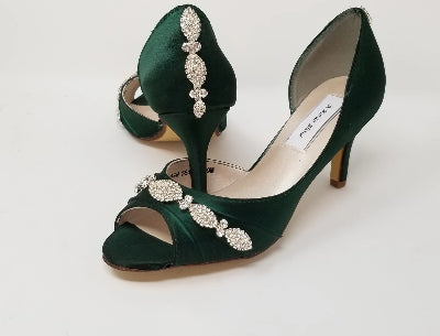 hunter green bridal shoes