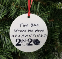 friends inspired christmas ornament 2020