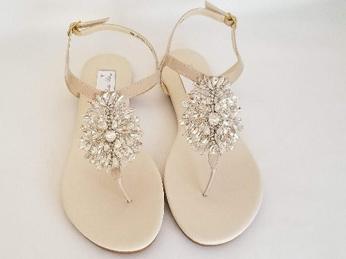 ivory bridal sandals with crystals
