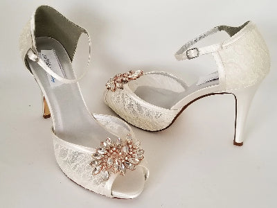 ivory lace bridal heels
