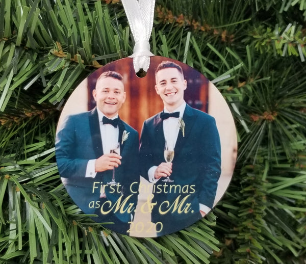 same sex wedding ornament