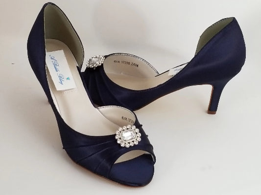 navy bridal shoes