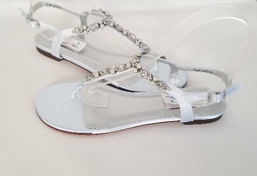 baby blue bridal sandals