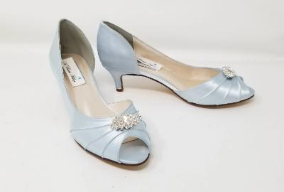 blue bridesmaids shoes