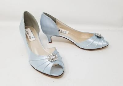 baby blue bridal shoes