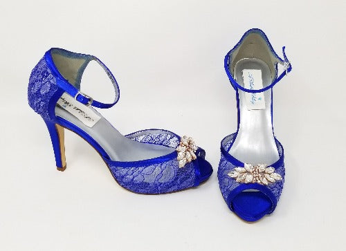cobalt blue wedding shoes
