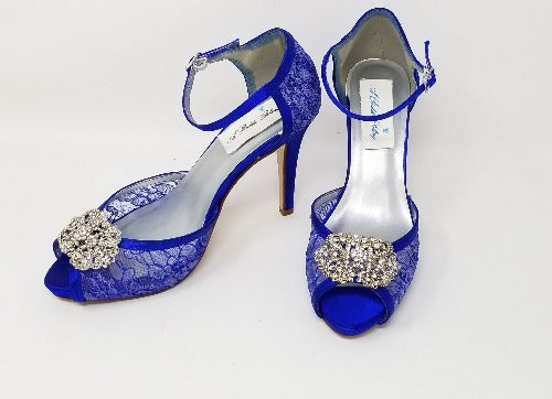 cobalt blue bridal shoes