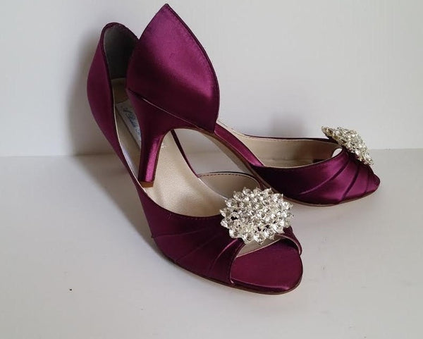 burgundy wedding shoes